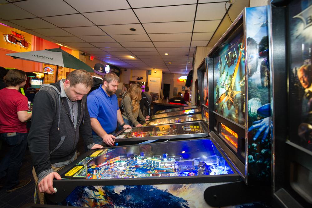 Pinball arcade at Landmark Lanes