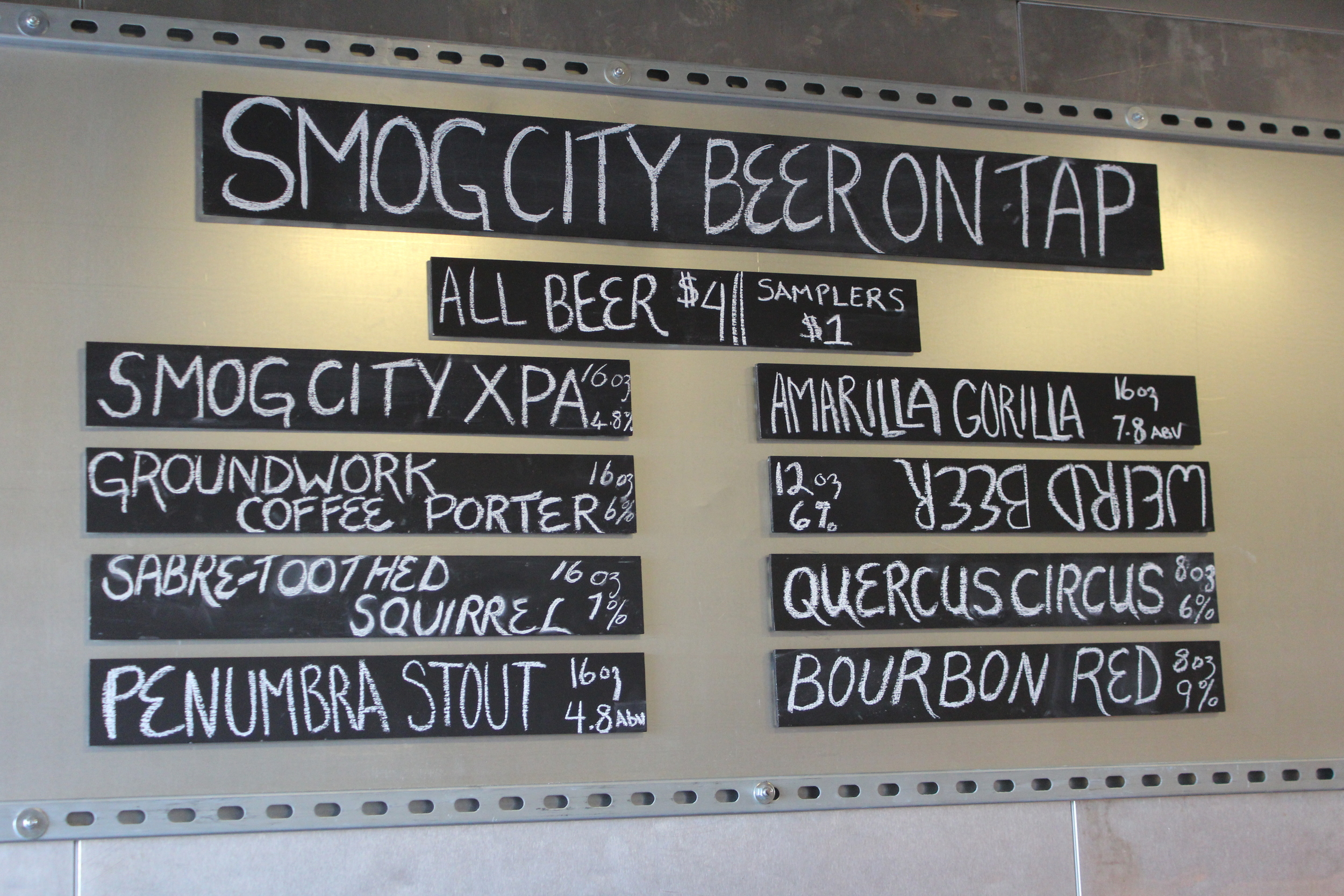 Smog City Beer On Tap