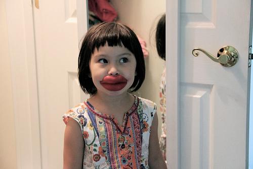 red wax lips