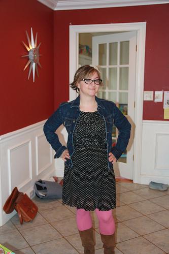 Stitch Fix polka dot dress. Hearting it so much.