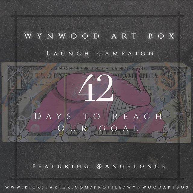 @WynwoodArtBox  42 Days to Reach our Goal  Featured ARTist 4 of 20  @angelonce  Support this Amazing Art Box vía our @kickstarter campaign. Link in bio.  Limited to 150 📦  #kickstarter #artbox #purchase #support #supportsmallbusiness #supportart #supportartist #invest #investment #artinvestment #20 #art #artist #fundraising #fundraiser #crowdfunding #wynwood #brooklyn #losangeles #wynwoodartbox #subscriptionbox