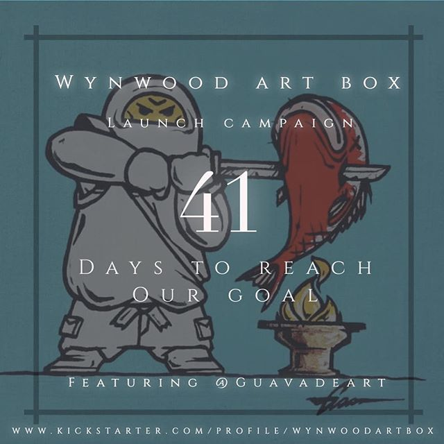 @wynwoodartbox  41 days left to Reach our $5k Goal  Support ARTist and Purchase a Box  5 of 20 Featured Artist @guavadeart