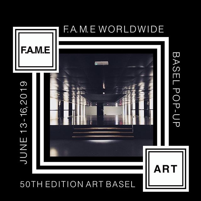 @fame.worldwide #Basel Pop-up  June 13-16, 2019 during the 50th Edition @artbasel Festival in #Switzerland  This 4 day Pop up will feature  Art Installations - Pop up Shops - Live Music & Installations - Events in an Venue like no other. Details releasing soon ... #popup #popupshop #gallery #conceptstore #fashion #art #music #experience #events #retail #shop #wearableart #livemusic #liveinstallations #installations #artist #artfestival #artbasel #fametakeover #fameworldwide