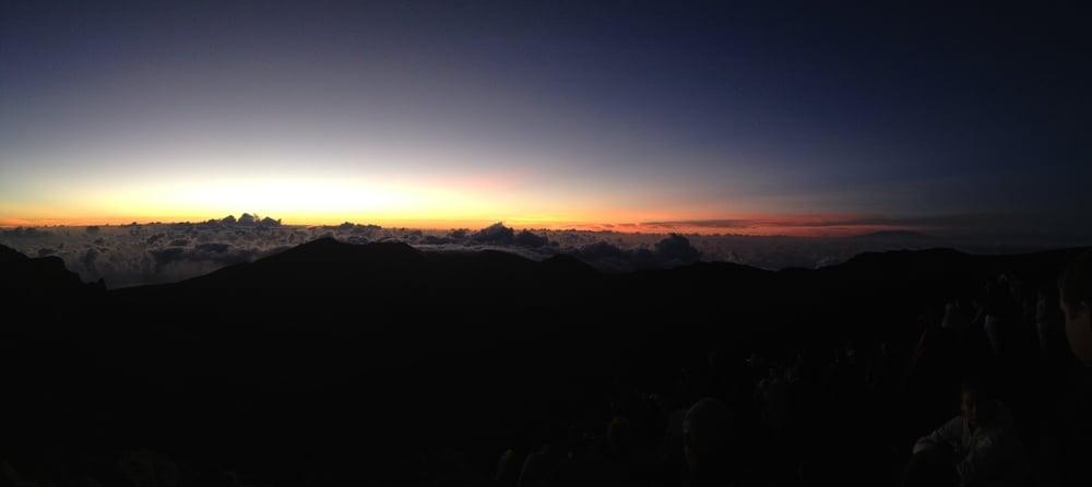 The beginning of sunrise.