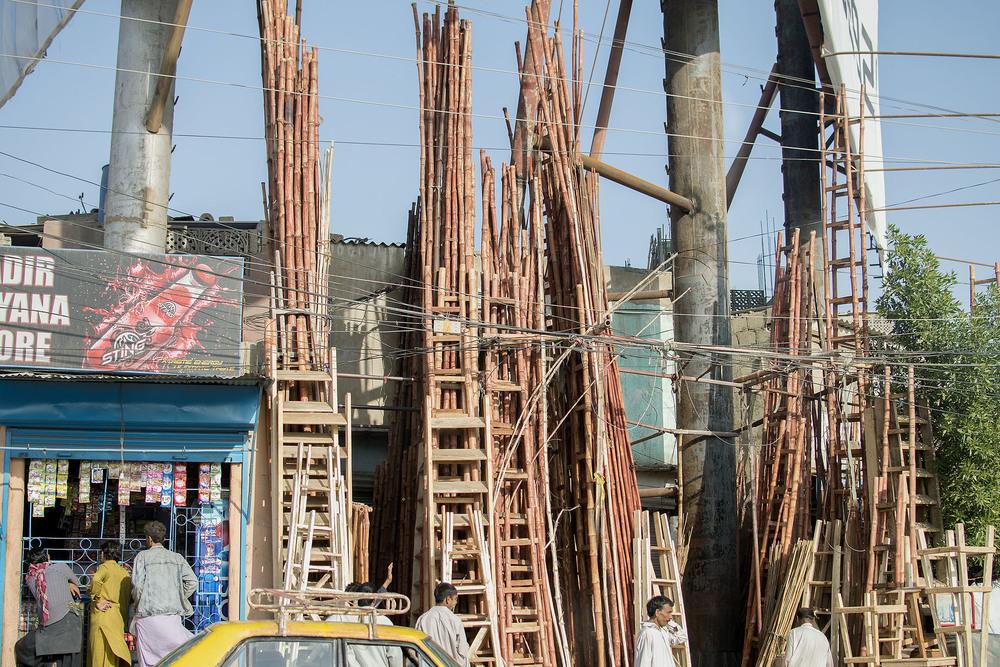 Ladders, Karachi, Pakistan, 2015