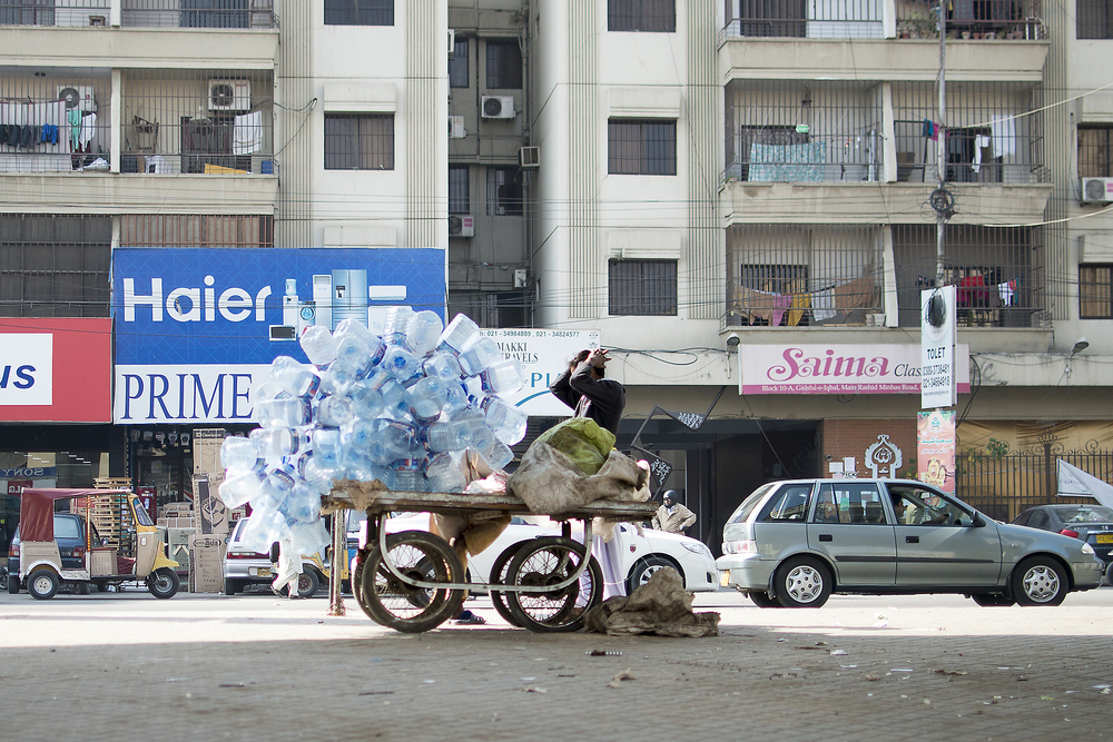 Empty Water Bottles, Karachi, Pakistan, 2015