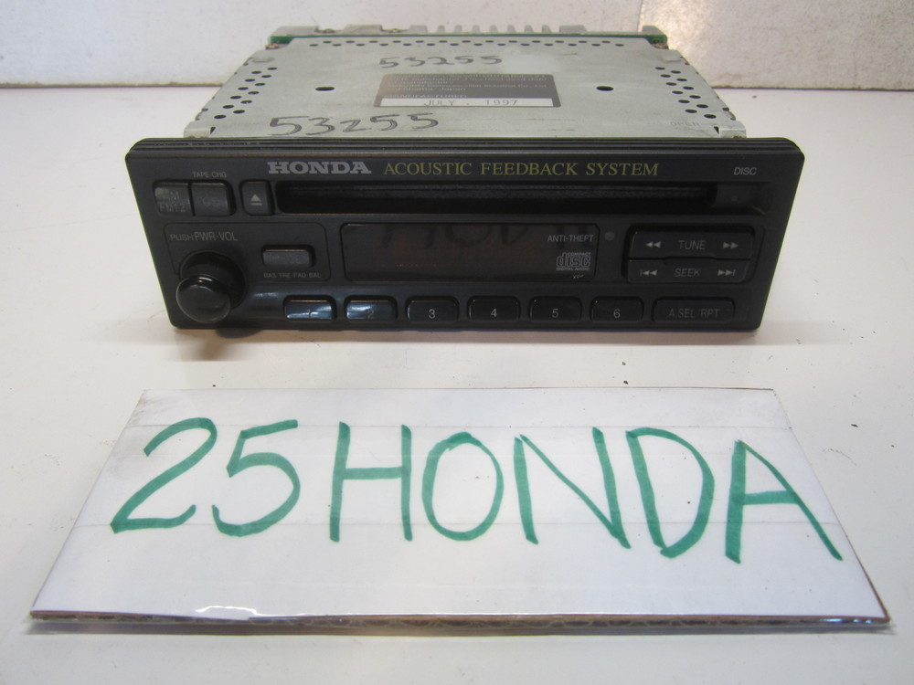 1997 2001 Honda Prelude Amber Oem Cd Player