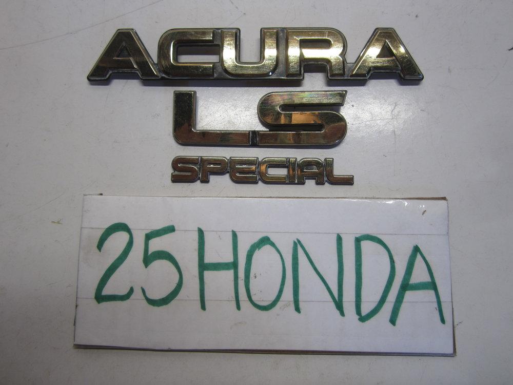 1986 1989 Acura Integra Special Edition Gold Emblem Set