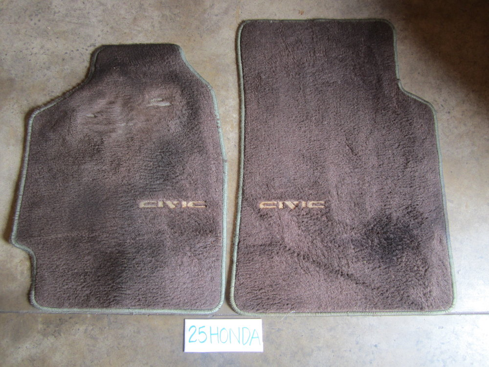 1988 1991 Honda Civic 3 Door Hatchback Optional Floor Mats