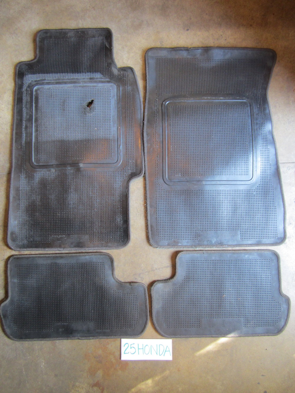 1988 1991 honda prelude si optional front and rear floor