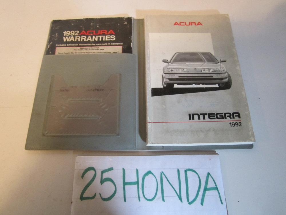 1992 acura integra 4 door factory owner s manual oem 25hondalouver rh 25honda com 1992 acura integra service manual 1992 acura legend owners manual pdf