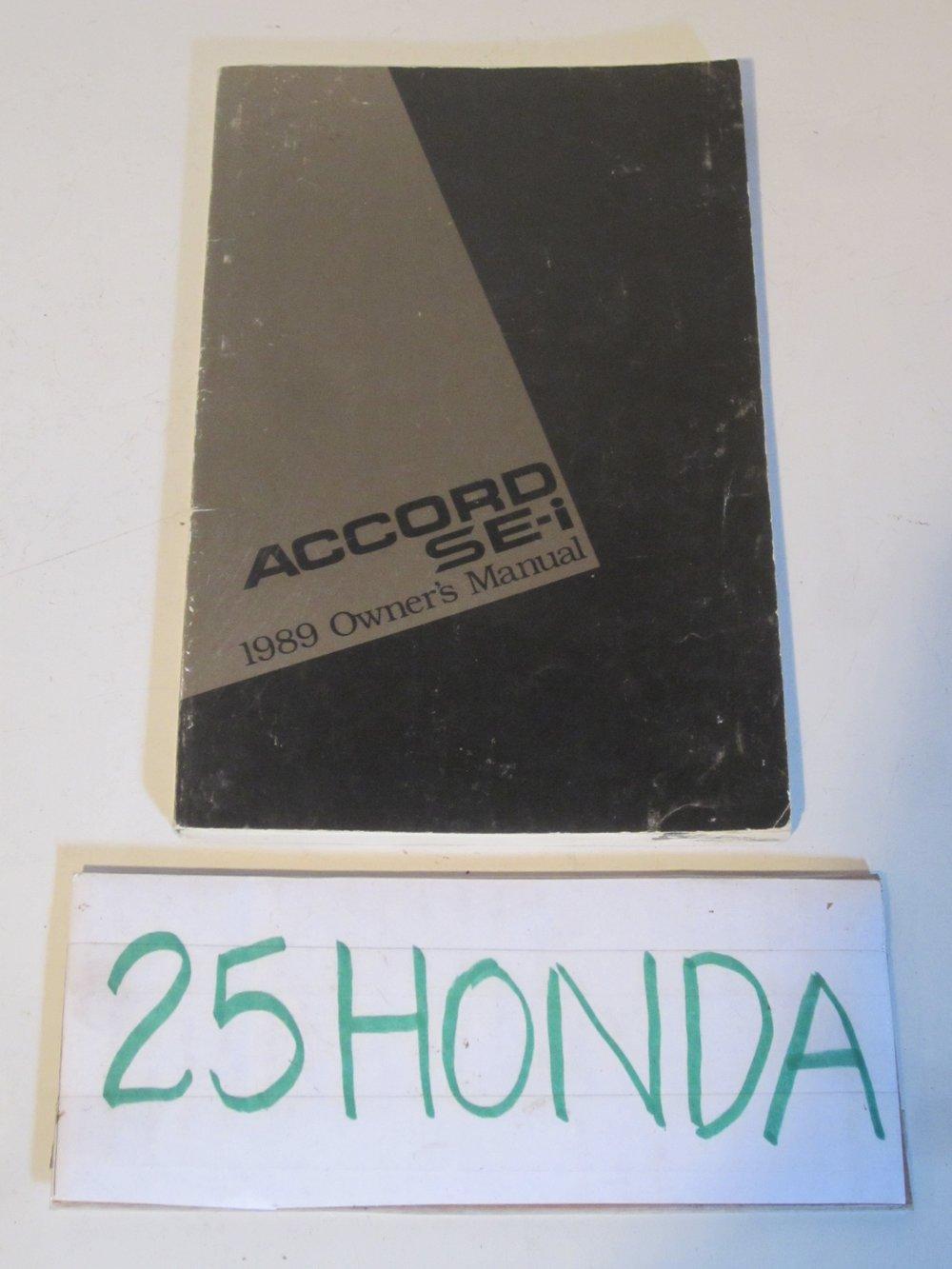 1989 honda accord se i factory owner s manual oem 25hondalouver rh 25honda com 1989 honda accord owners manual 1989 honda accord service manual