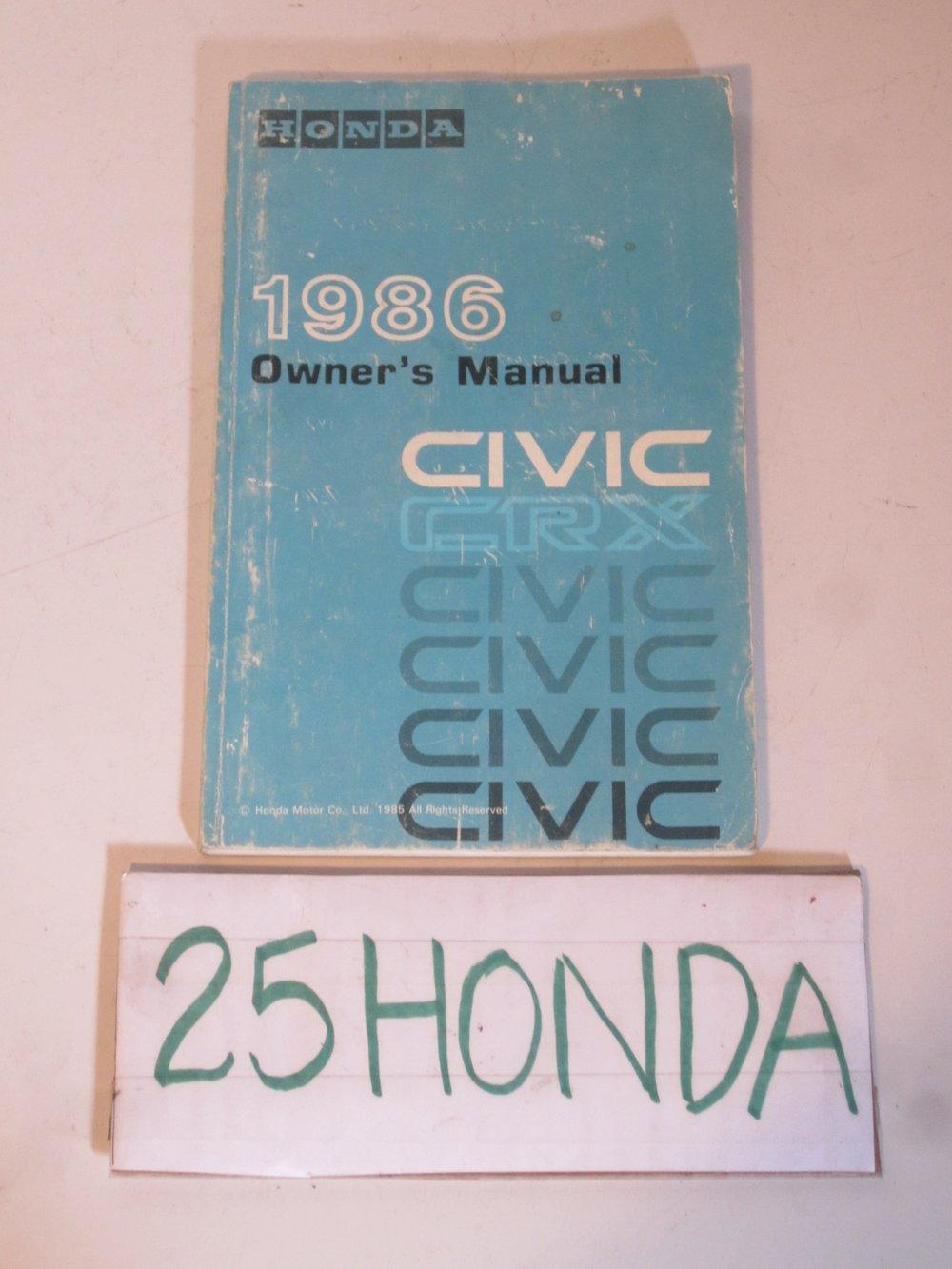 1986 honda crx radio - wiring diagrams image free