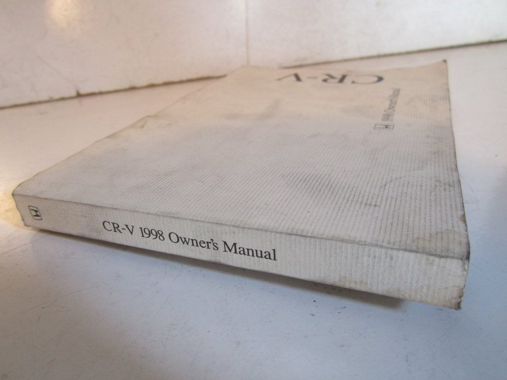 1998 cr v owners manual