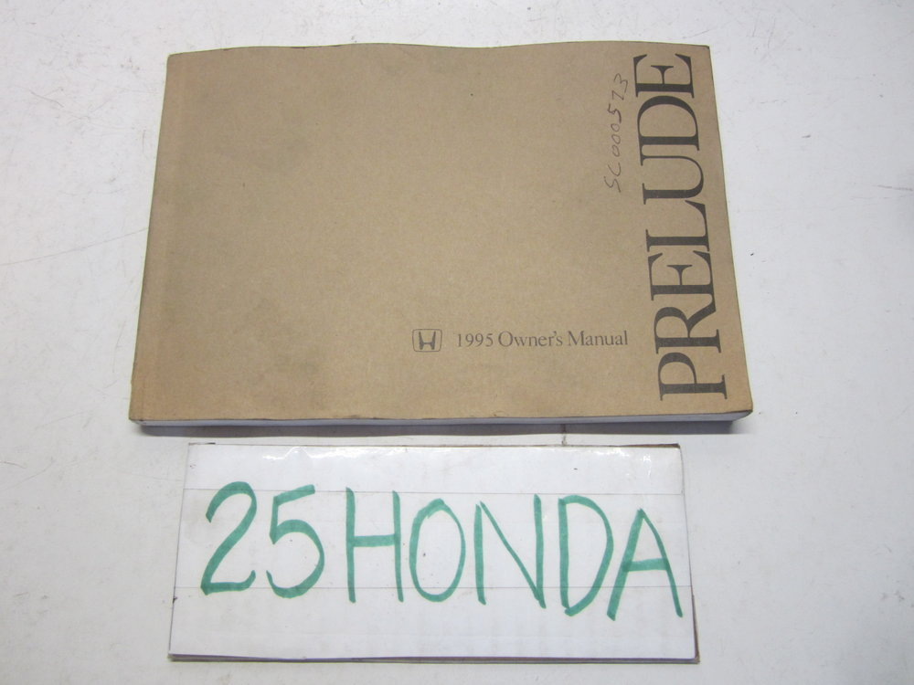 1995 honda prelude factory owner s manual oem 25hondalouver fog rh 25honda com 2000 Honda Prelude 1994 Honda Prelude