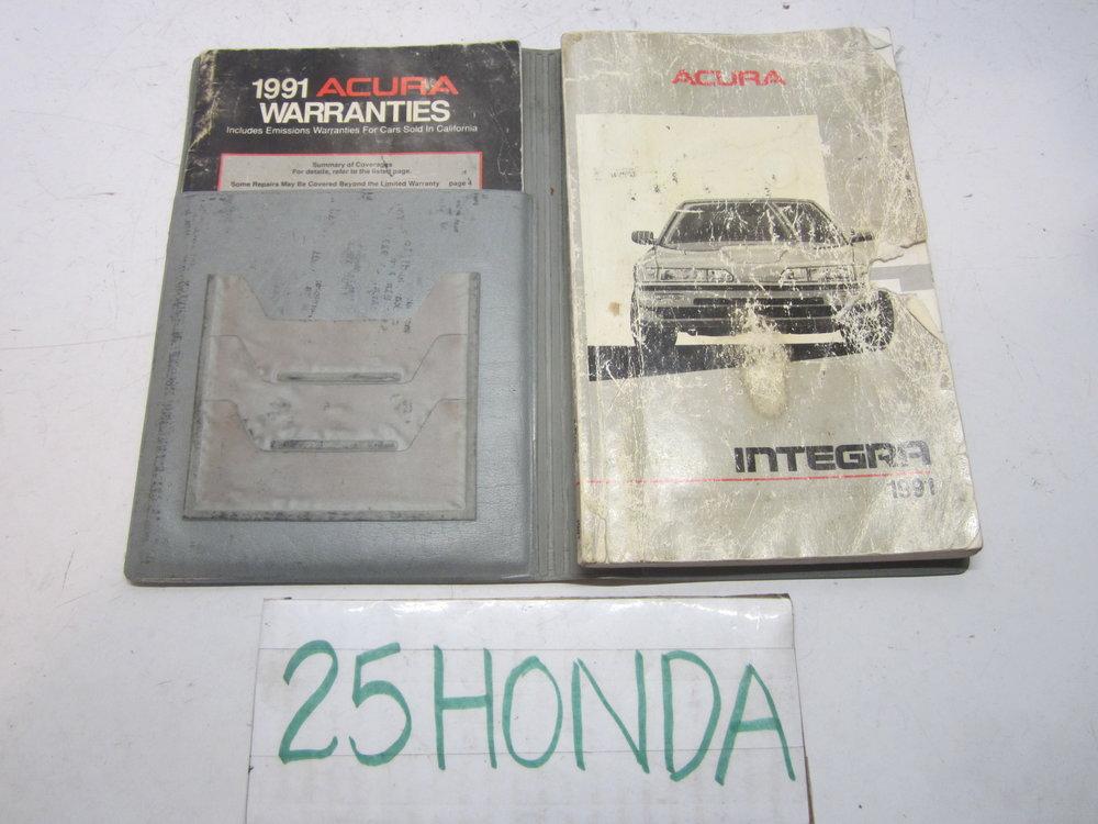 1991 acura integra 4 door factory owner s manual oem 25hondalouver rh 25honda com Honda Integra NFS Honda Integra Motorcycle