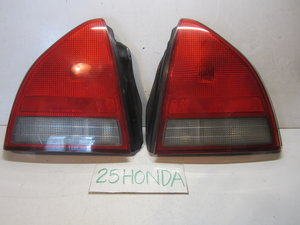 1992-1996 honda prelude red clear custom tail lights stanley