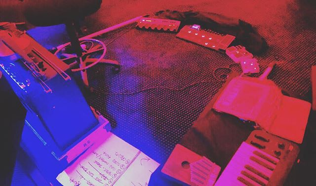 #violin #kalimba #keyboard #pedals ... #lionstigersbearsohmy #wsfb2019
