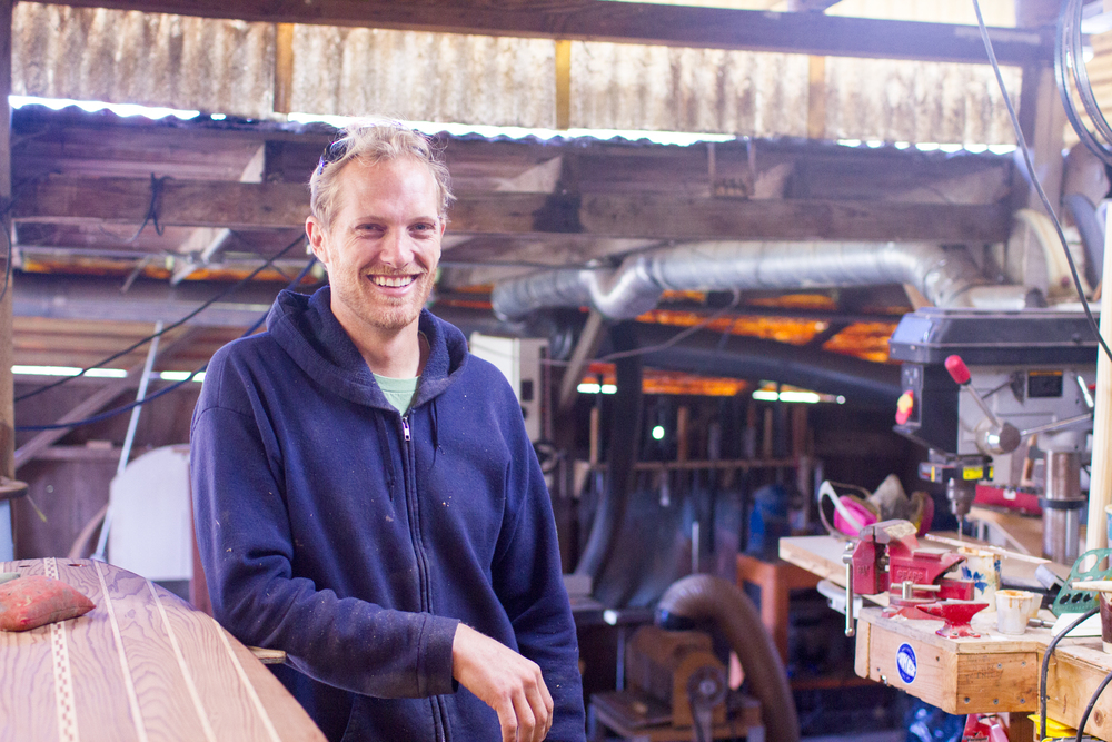Martijn Stiphout, head craftsman for Ventana Surfboards.