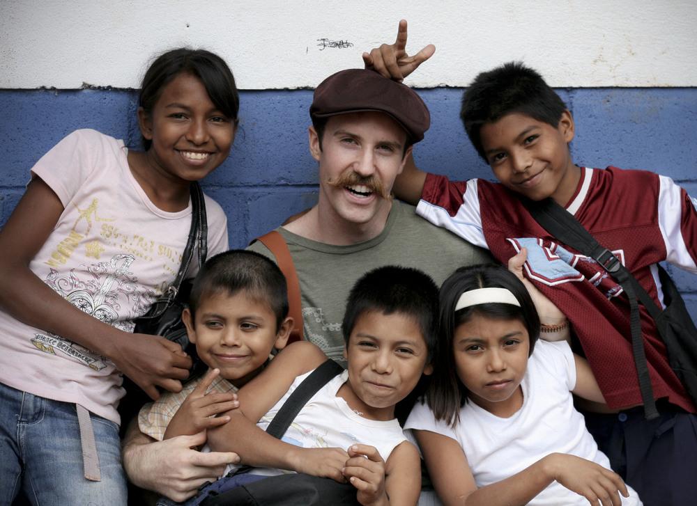 Frank volunteering at a school in Nicaragua.