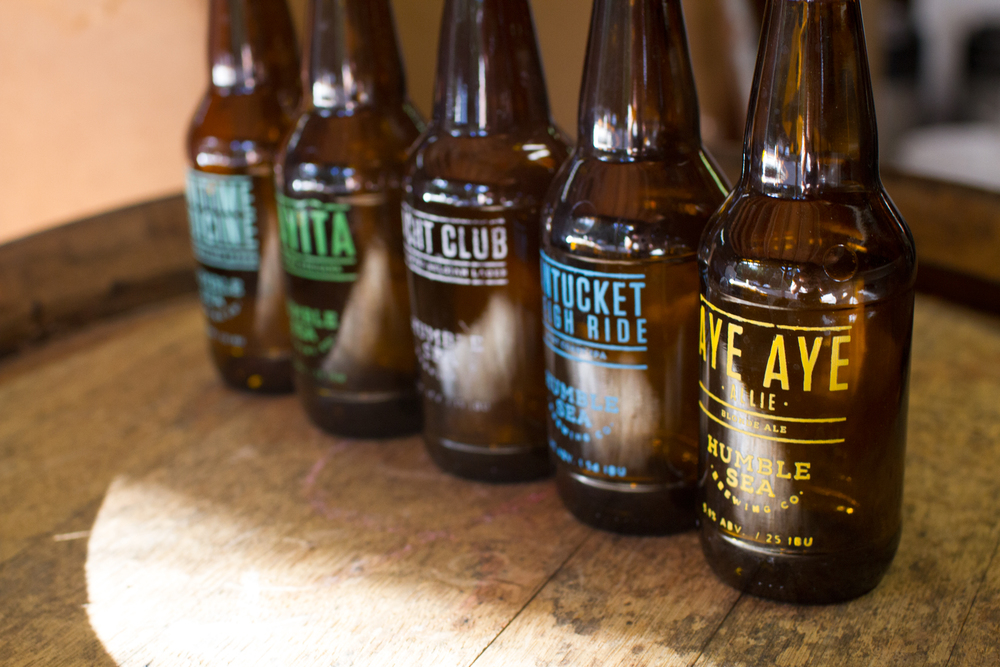 Five or Humble Sea's staple beers lined up for your consumption.