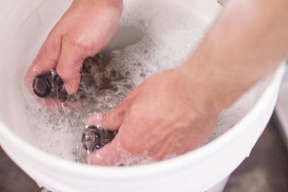 Sanitizing, a glamorous task. Does anyone feel like lending a hand?