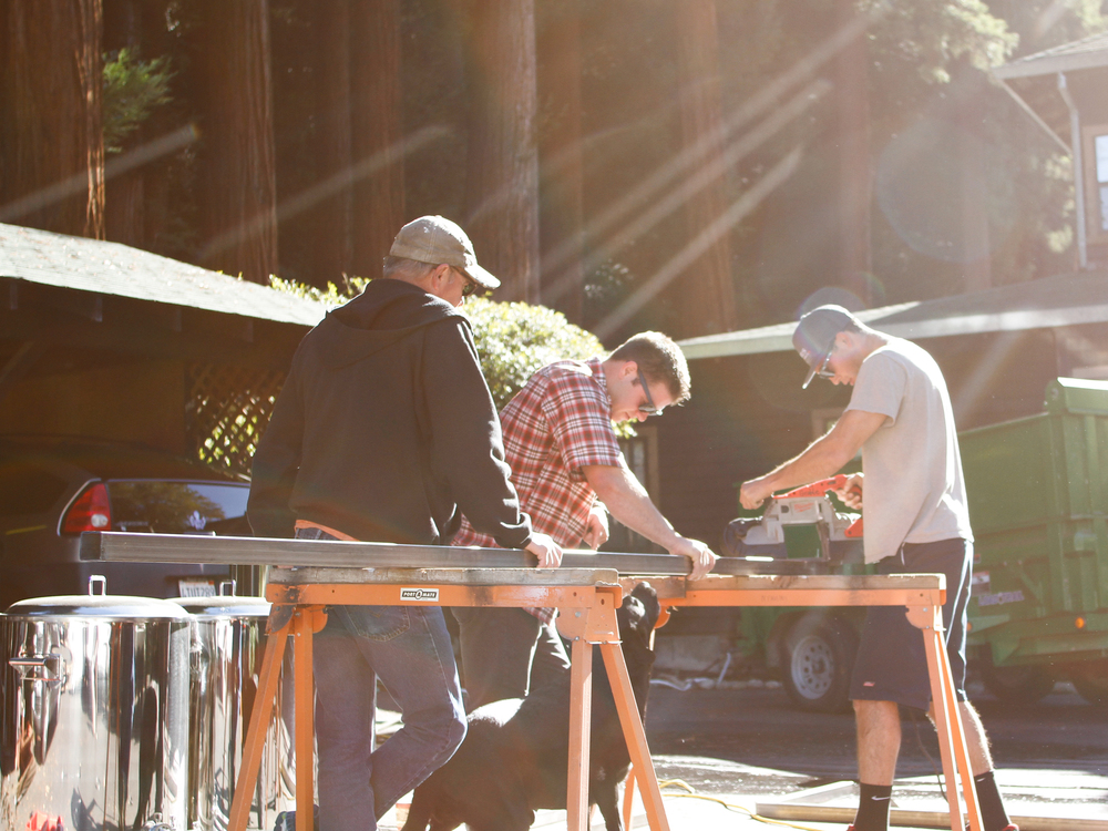 That's Nevdogg and Scotty lending a helping hand. Without those two, the Ben Lomond brewery would still be in shambles.