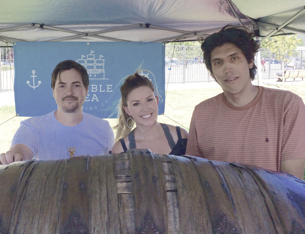 You can't say Ben, Samantha & Jacob don't look thrilled to pour beers at our first beer festival.