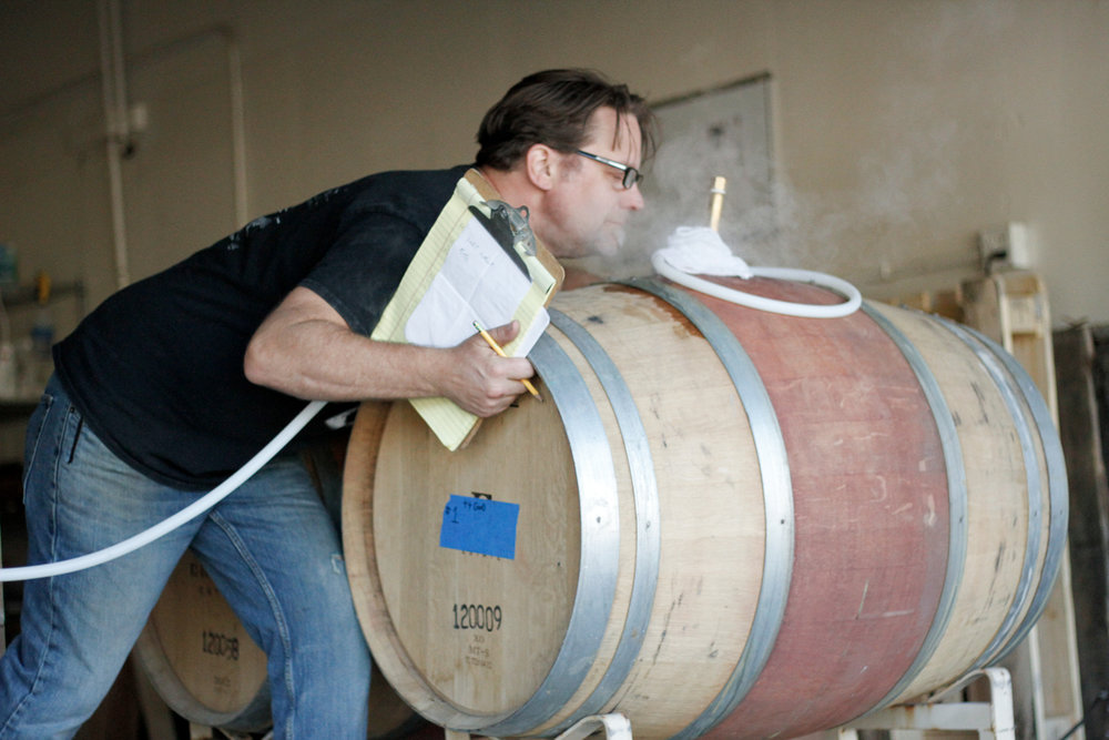 Shane Winkler getting smelly with our new French Oak.