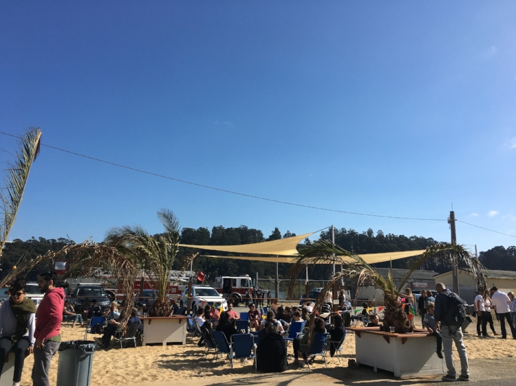 The beach aesthetic seemed incredibly effortless to execute, but it created an ideal beer garden
