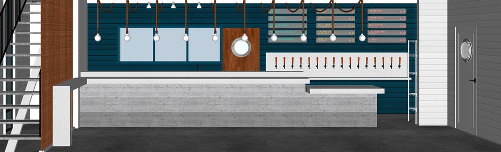Our new tap room bar design on 820 Swft Street. Westside!