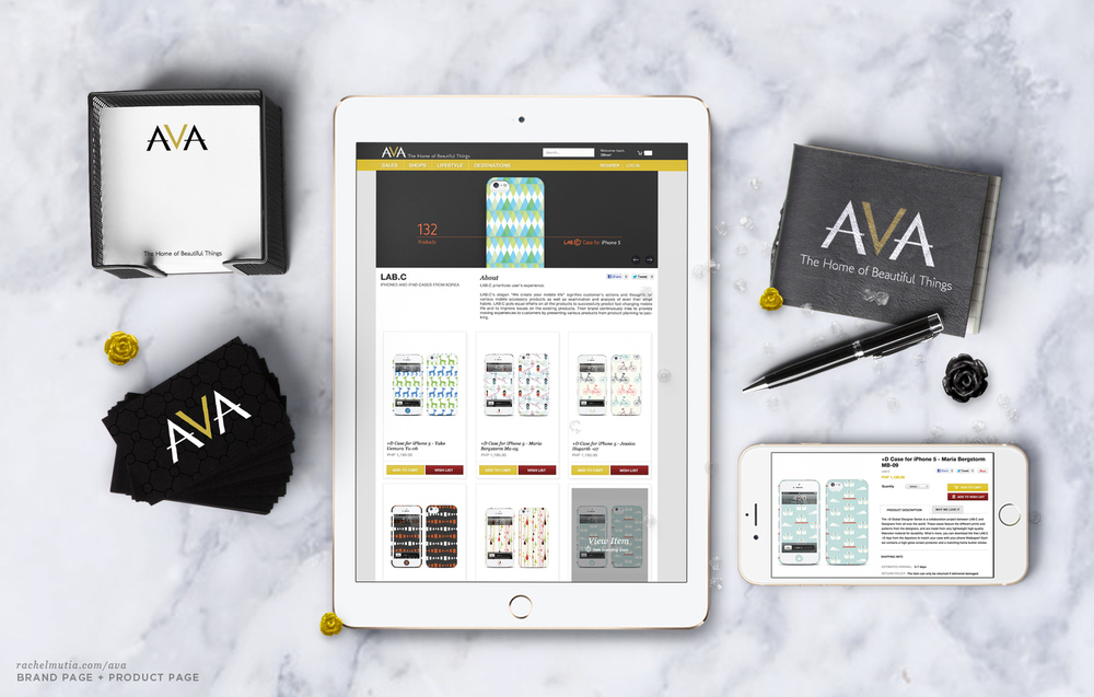 AVA Brand & Product Page by Rachel Mutia