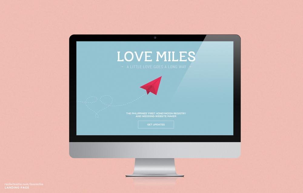 Love Miles Landing Page by Rachel Mutia