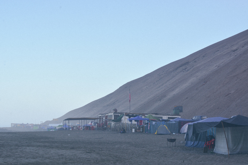 Our camp. Lots of Arican locals rent their houses for the summer and move to the beach for 2-3 months. They have fridges and TV's that run off generators.