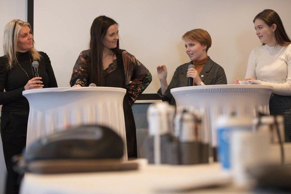 Frá vinstri: Berta Daníelsdóttir, Ingileif Friðriksdóttir, Elsa María Guðlaugs Drífudóttir og Gunnhildur Fríða Hallgrímsdóttir