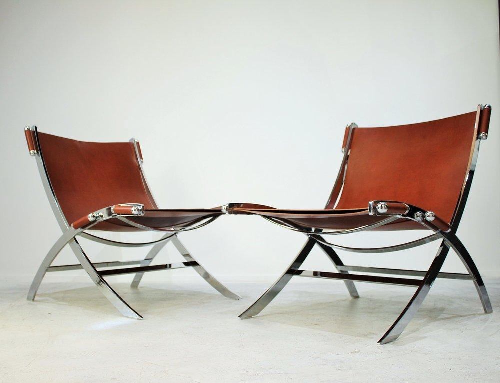 Italian 1970s Sling Chairs