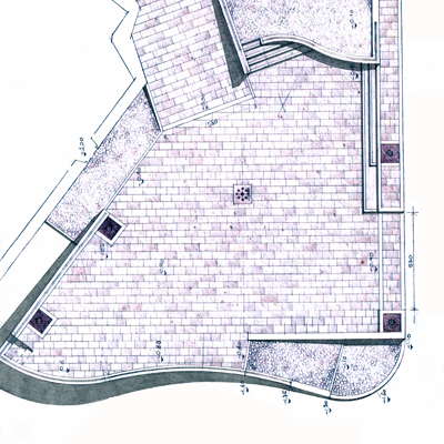 SISTEMAZIONE PIAZZA P.zza S.Maria della Valle - Scanno, 2000