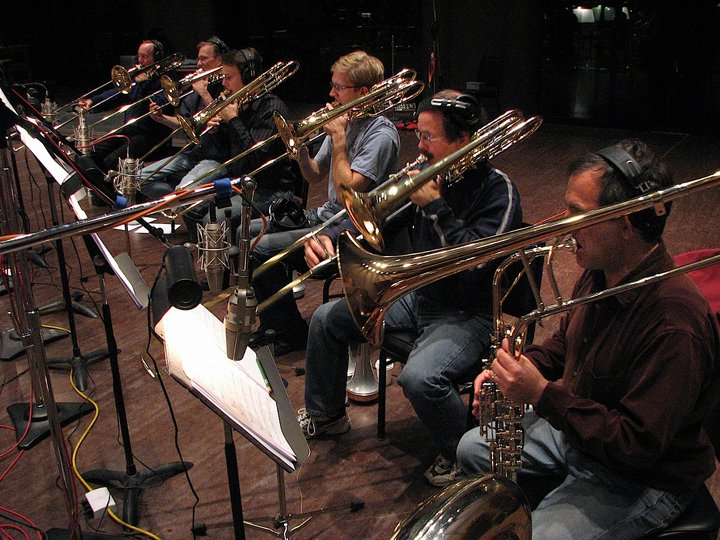 The Brass section at Skywalker Ranch for Dead Space