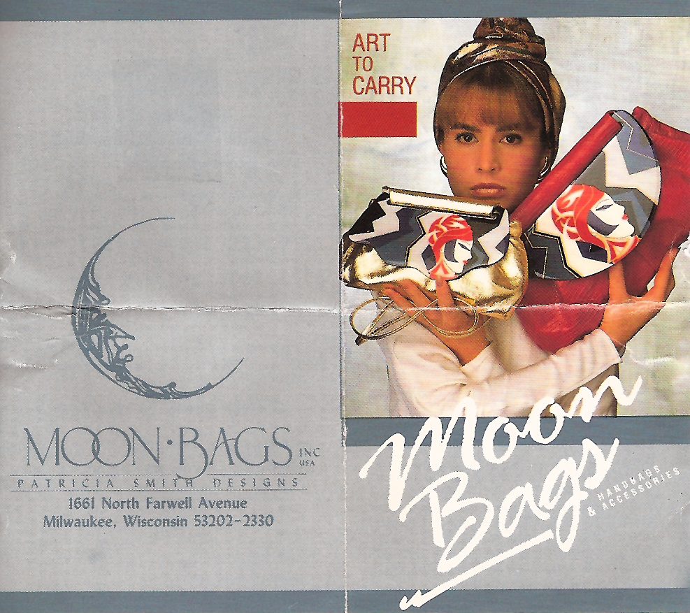 A 1980's advertisement for Milwaukee-based Moon Bags