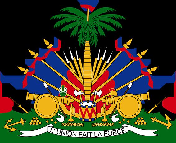 Das Wappen der Republik Haiti