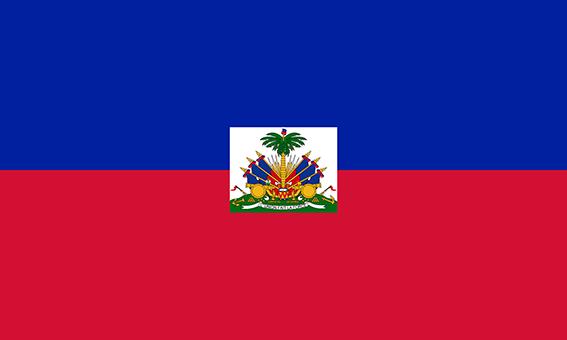Die Flagge der Republik Haiti