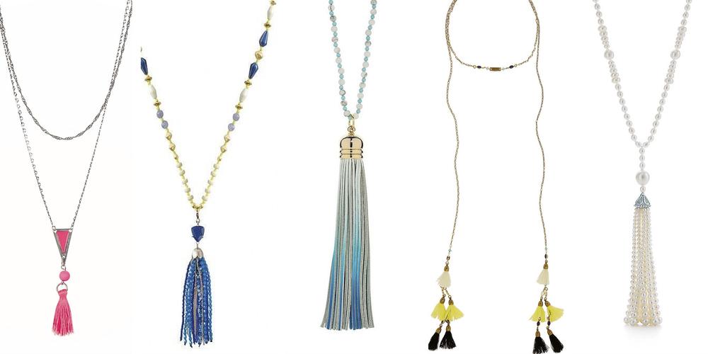From left to right: Comptoir des Cottoniers, Stella & Dot, Elizabeth Raine London, Isabel Marant, Tiffany & Co
