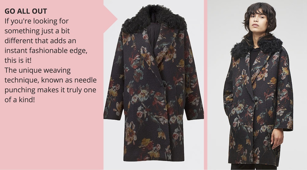 Jigsaw Needle Punch Floral Coat, £289