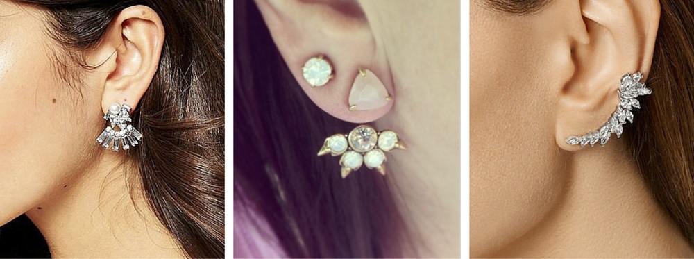 New Look Through & Through Earrings , £4.99; Stella & Dot Eva Ear Jackets , £40; Kenneth Jay Lane Ear Cuff , £100