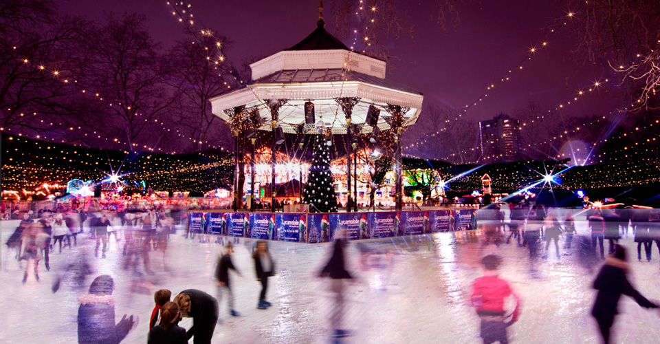The magical winter wonderland ice rink at hyde park, London