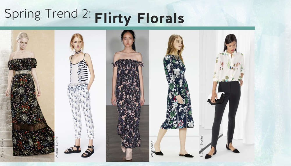 Florals can be mixed and matched with endless options