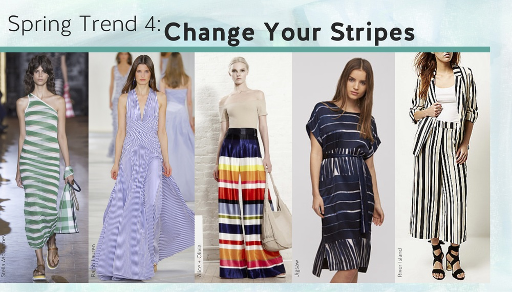 horizontal stripes do NOT necessarily make you look wider - it's a myth!