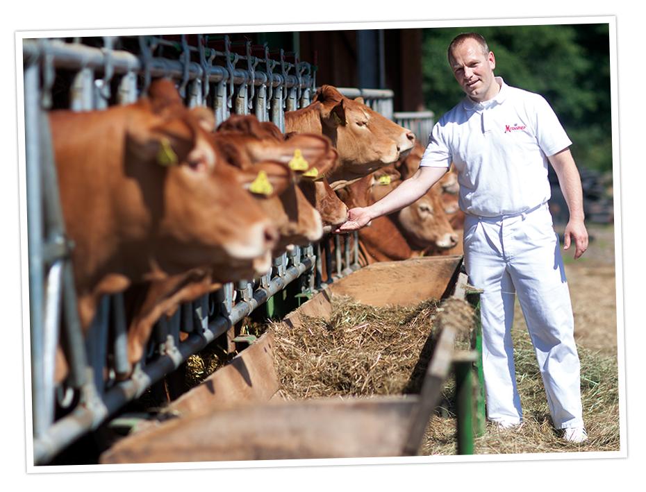 Wir beziehen von bekannten und verantwortungsvoll geführten Bauernhöfen! Den Einkauf übernimmt der Chef persönlich - das bietet Top-Fleischqualität.