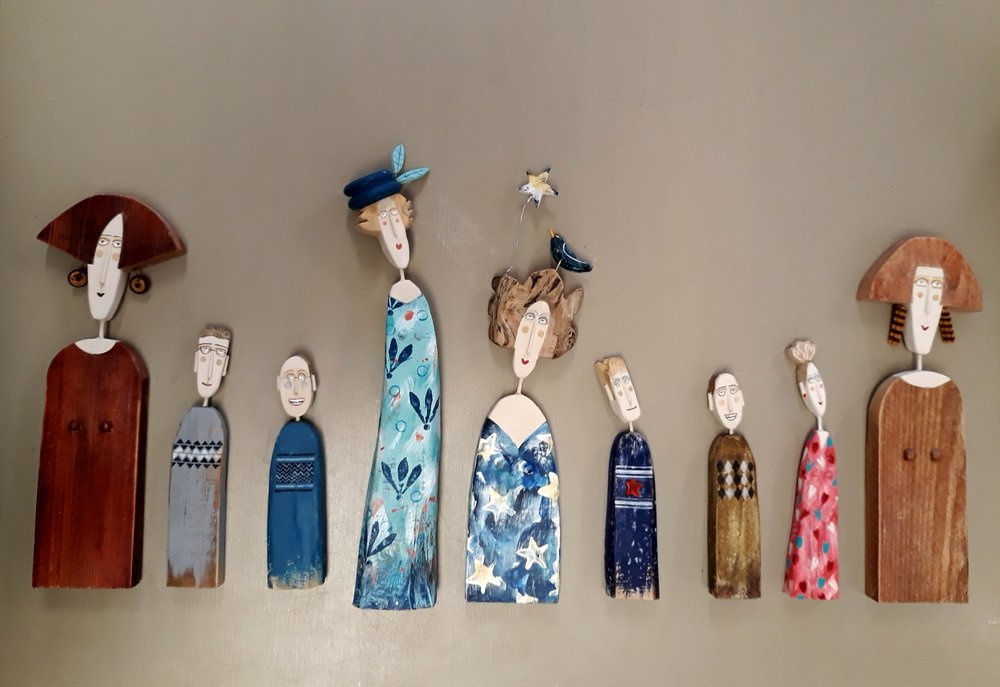 Selection of Lynn Muir handcrafted figures