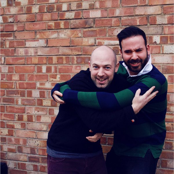 Voxburner founder Simon Eder and Rick Jackson in a fun outtake from Voxburner's recent Metro feature photoshoot.